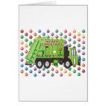 Navidad del camión de basura felicitaciones