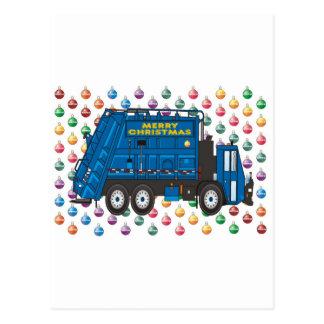 Navidad del camión de basura postales