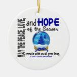 Navidad del cáncer de colon 3 ornamentos del globo adornos de navidad
