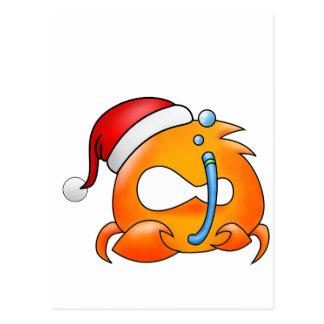 Navidad del cáncer tarjeta postal