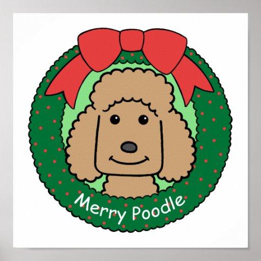 Navidad del caniche impresiones