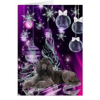 Navidad del caniche tarjeta de felicitación