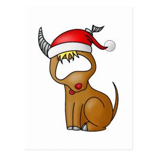 Navidad del Capricornio Tarjeta Postal