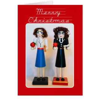 Navidad del cascanueces del profesor tarjeta de felicitación