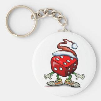 Navidad del casino llavero redondo tipo pin