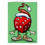 Navidad del casino tarjetón