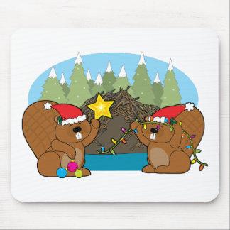 Navidad del castor tapetes de raton