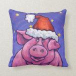 Navidad del cerdo almohadas