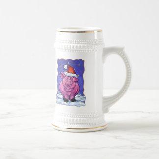 Navidad del cerdo tazas de café