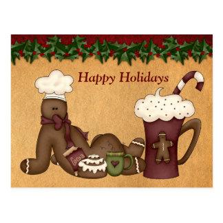 Navidad del chocolate caliente del Postal-Pan de j