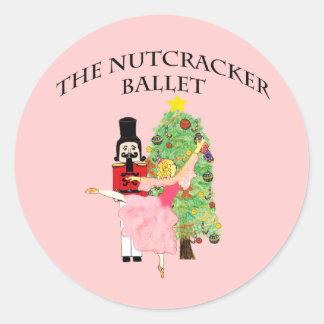 Navidad del clara_nutcracker pegatina redonda