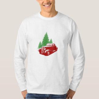 Navidad del coche de carreras playera