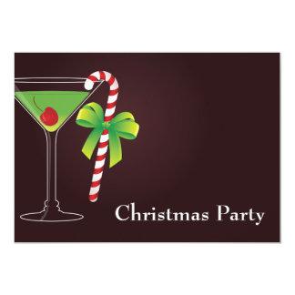 Navidad del cóctel del bastón de caramelo invitacion personal