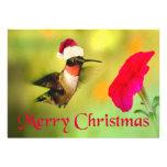 Navidad del colibrí del gorra de Santa Comunicados Personales
