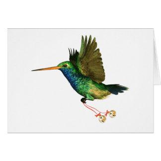 Navidad del colibrí tarjeta de felicitación
