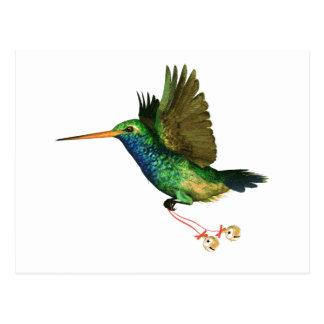 Navidad del colibrí postal