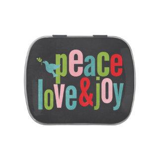 Navidad del color del amor y de la alegría de la p jarrones de caramelos