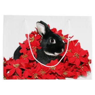 Navidad del conejo de conejito bolsa de regalo grande