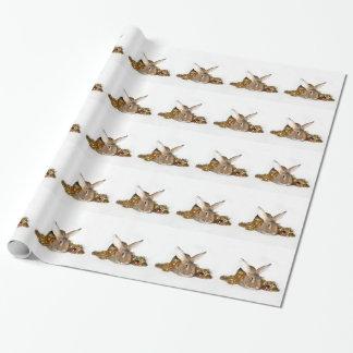 Navidad del conejo de conejito papel de regalo