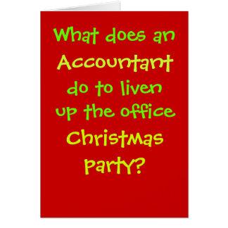 Navidad del contable cruel y chiste divertido del  felicitación