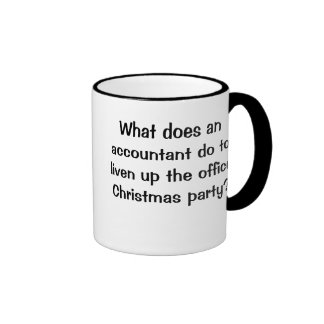 Navidad del contable divertido y chiste cruel taza de café