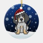 Navidad del Coonhound de Bluetick del dibujo anima Ornamento De Navidad