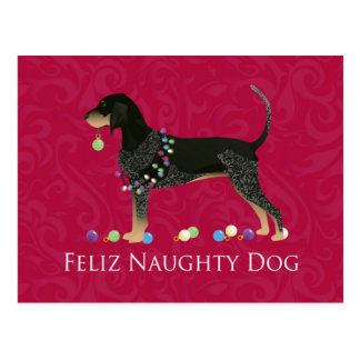 Navidad del Coonhound de Bluetick Tarjetas Postales