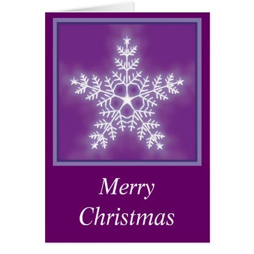Navidad del copo de nieve de la estrella de la tarjeta de felicitación