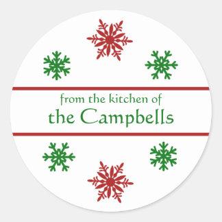 Navidad del copo de nieve que conserva la etiqueta