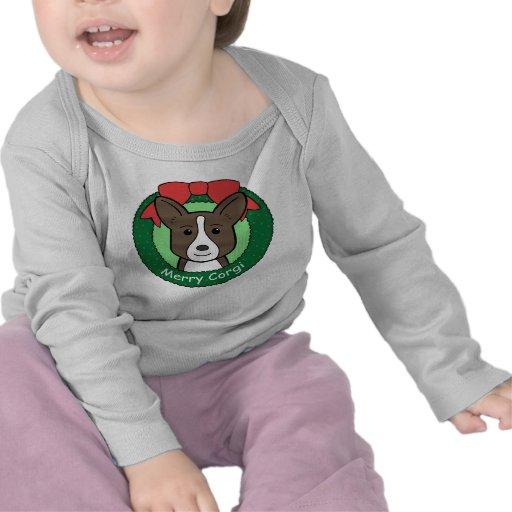Navidad del Corgi Galés de la rebeca Camiseta