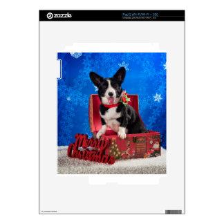 Navidad del Corgi iPad 2 Calcomanía