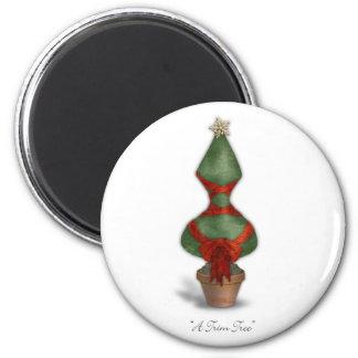 Navidad del corsé del árbol del ajuste imán redondo 5 cm