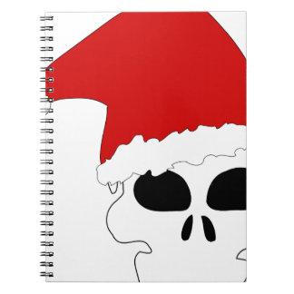 navidad del cráneo del gótico libro de apuntes con espiral