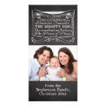 Navidad del cristiano de la pizarra tarjeta fotografica personalizada