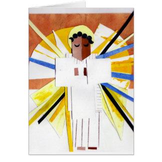 Navidad del cubista del ángel tarjetas