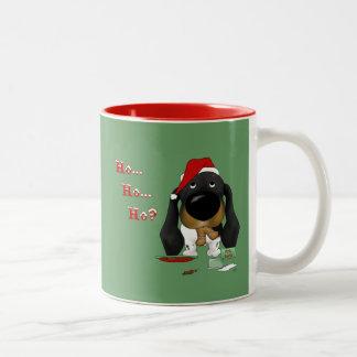 ¿Navidad del Dachshund - Ho Ho Ho Tazas