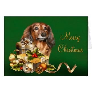 Navidad del Dachshund Tarjeta De Felicitación