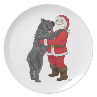 Navidad del DES Flandres de Bouvier que saluda la  Plato De Cena