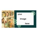Navidad del desfile del vintage de la plantilla tarjetas fotográficas personalizadas