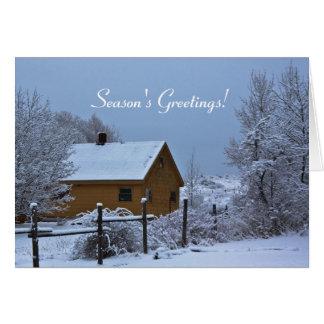 Navidad del día de fiesta de la cabina del país Ne Felicitación