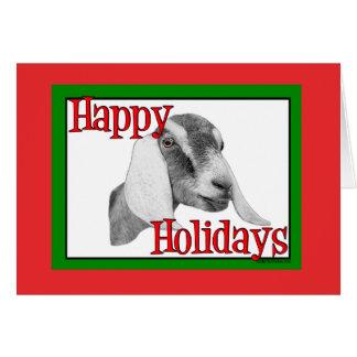 Navidad del día de fiesta de la cabra de Nubian Tarjetas