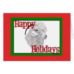 Navidad del día de fiesta de la cabra del angora tarjeta