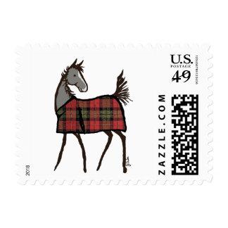 Navidad del día de fiesta del caballo del copo de sello