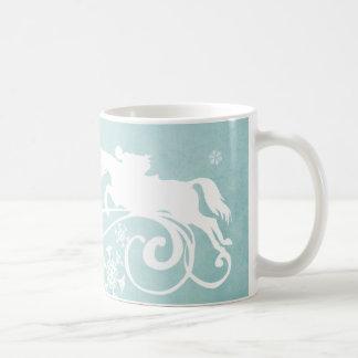 Navidad del día de fiesta del caballo del copo de taza básica blanca