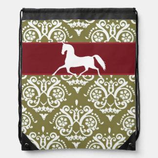 Navidad del día de fiesta del caballo que trota mochilas
