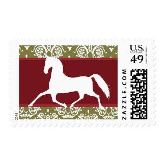 Navidad del día de fiesta del caballo que trota sello