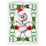 Navidad del dibujo animado del béisbol felicitaciones