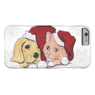 Navidad del dibujo animado, gatito lindo del funda barely there iPhone 6