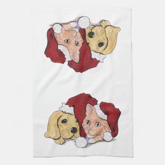 Navidad del dibujo animado, gorras lindos de Santa Toallas