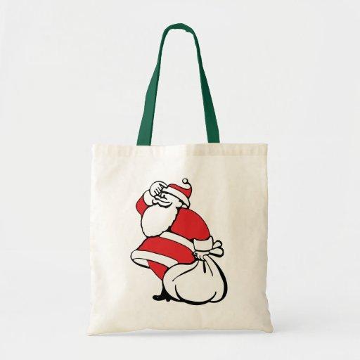 Navidad del dibujo animado, Papá Noel alegre, saco Bolsa Lienzo